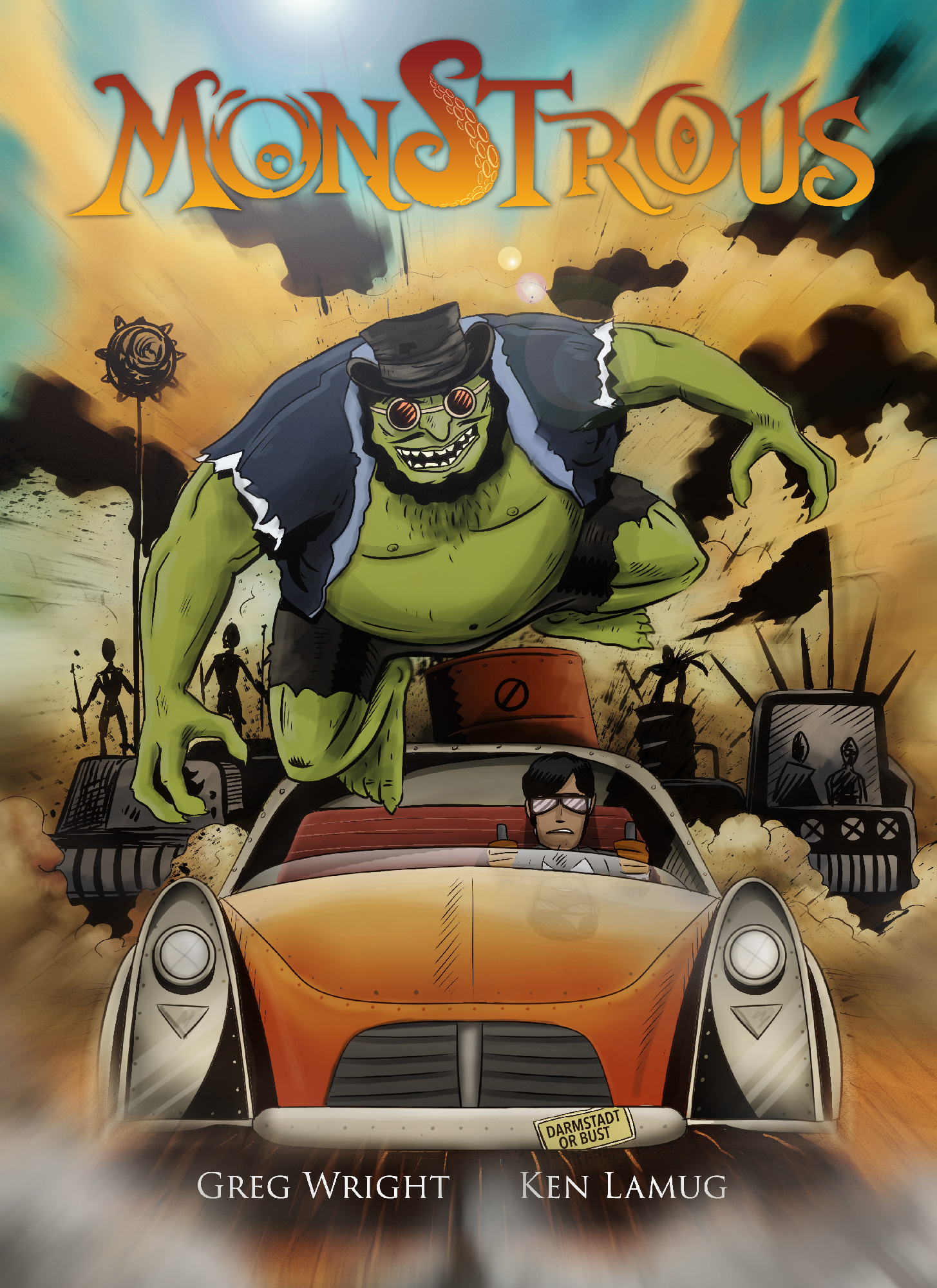 Comic Books 2017, Greg Wright, Monstrous Mad Dash, Source Point Press